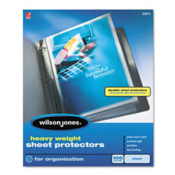 Wilson Jones Heavy Weight Sheet Protector, Clear