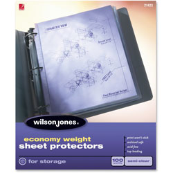 Wilson Jones Economy Weight Sheet Protector, Clear