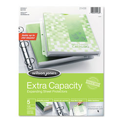 Wilson Jones Extra Capacity Sheet Protector, Clear