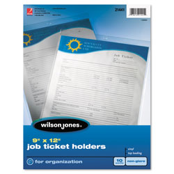 Wilson Jones Non-Glare Ticket Holder, Clear