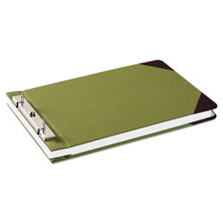"Wilson Jones Canvas Sectional Post Binder for 8 1/2 x 14 Sheets, 4 1/4"" C. to C., Green/Red"