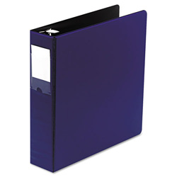 "Wilson Jones No Gap Locking Round Ring Binder, 2"" Capacity, Blue"