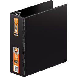 "Wilson Jones No Gap Locking Round Ring Binder, 3"" Capacity, Black"