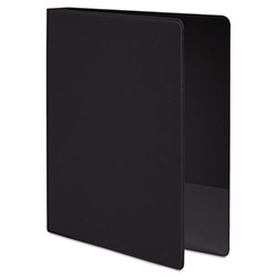 "Wilson Jones 35% Recycled Vinyl Round Ring Binder, 1/2"" Capacity, Black"