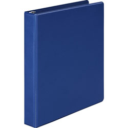 "Wilson Jones 35% Recycled Vinyl Round Ring Binder, 1"" Capacity, Blue"