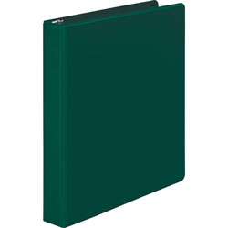 "Wilson Jones 35% Recycled Vinyl Round Ring Binder, 1"" Capacity, Green"