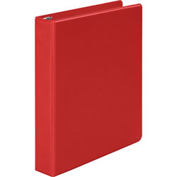 "Wilson Jones 35% Recycled Vinyl Round Ring Binder, 1 1/2"" Capacity, Red"