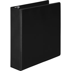 "Wilson Jones 35% Recycled Vinyl Round Ring Binder, 2"" Capacity, Black"