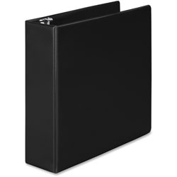 "Wilson Jones Basic Vinyl Round Ring Binder, 3"" Capacity, Black"