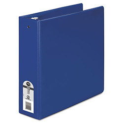 "Wilson Jones Basic Vinyl Round Ring Binder, 3"" Capacity, Dark Blue"