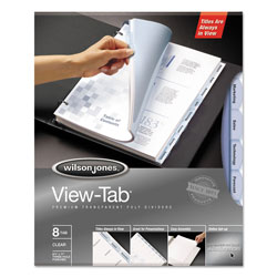 Wilson Jones View Tab® Index Tabs, Clear