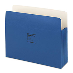"Wilson Jones Recyc. File Pockets, Letter Size, 3 1/2"" Exp., Dark Blue, 25/Box"