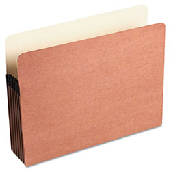 "Wilson Jones Recycled File Pocket, 5 1/4"" Expansion, 9 1/2""x11 3/4"", Red"