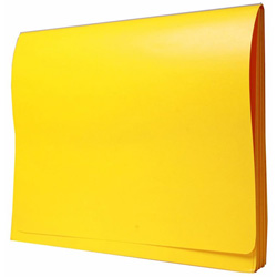 "Wilson Jones® ColorLife Expanding Wallet, 3 1/2"" Exp, 11 3/4"" x 9 1/2"", Yellow"