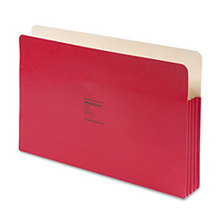 "Wilson Jones Recyc. File Pockets, Legal Size, 1 3/4"" Exp., Red, 25/Box"