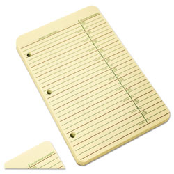 Wilson Jones Vinyl 3 Ring Looseleaf Phone/Address Book Refill, 5 1/2 x 8 1/2, 80 Sheets