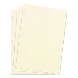 Wilson Jones Looseleaf Minute Book Ledger Sheets, Ivory Linen, 11 x 8 1/2, 100 Sheets/Box