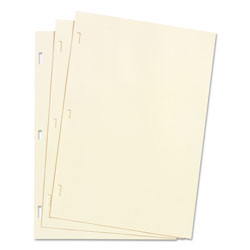 Wilson Jones Looseleaf Minute Book Ledger Sheets, Ivory Linen, 14 x 8 1/2, 100 Sheets/Box