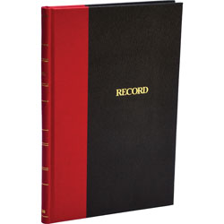 "Wilson Jones Account Book, Record Ruled, 144 Pages, 7 7/8""x5 1/4"", Black/Red"