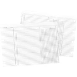 Wilson Jones® White End Balance Ledger Forms, Both Sides Alike, 7 1/2x10 3/8, 100/Pack