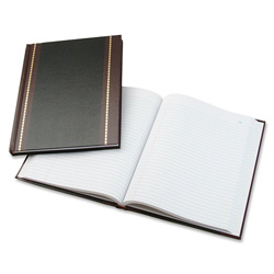 "Wilson Jones Record Book, Record Ruled, 150 Pages, 10 5/8""x8 1/4"", Black"