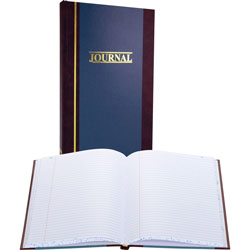 "Wilson Jones Account Book, Record Ruled, 150 Pages, 11 3/4""x7 1/4"", Blue"