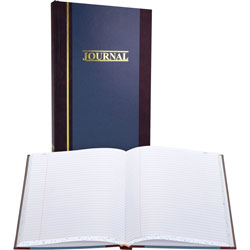 "Wilson Jones Account Book, Record Ruled, 300 Pages, 11 3/4""x7 1/4"", Blue"