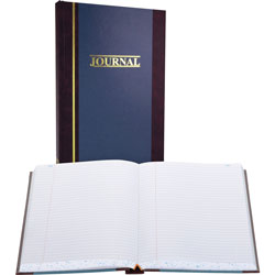 "Wilson Jones Account Book, Record Ruled, 500 Pages, 11 3/4""x7 1/4"", Blue"