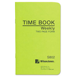 Wilson Jones Foreman's Time Book, 36 Pages, 6 3/4 x 4 1/8