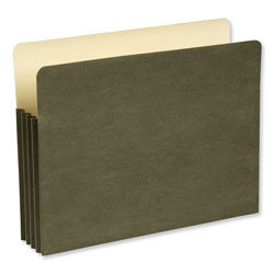 "Wilson Jones Green Recycled File Pocket, Straight Cut, Letter, 7"" Expansion"