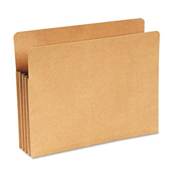 "Wilson Jones Kraft Recycled File Pocket, Straight Cut, Letter, 3.5"" Expansion"