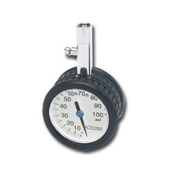 "Wilmar 2"" Round Tire Gauge, White Face"
