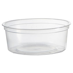 WNA Comet Deli Containers, Clear, 8oz, 50/Pack, 10 Pack/Carton