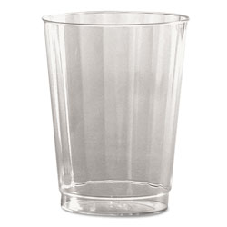 WNA Comet Classic Crystal Plastic Tumblers, 10 oz., Clear, Fluted, Tall, 12/Pack