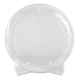 "WNA Comet Desigerware Disposable 6"" Plastic Plates, Clear, 10 Packs of 18"