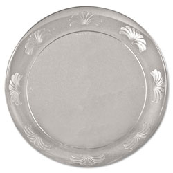 WNA Comet Designerware Plastic Plates, 7 1/2 Inches, Clear, Round, 10/Pack