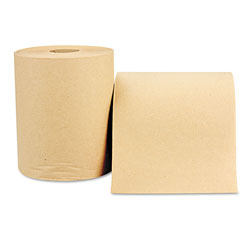 "Windsoft 1180 Natural Bulk Nonperforated Paper Towel Roll, 8"" x 600'"