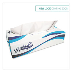 Windsoft White 2-Ply Facial Tissue, Case of 30