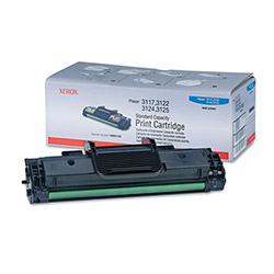 Xerox Black Laser Toner Cartridge for Phaser 3124, Standard Capacity