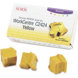 Xerox Refills for Workcentre C2424 Solid Ink Color Printer, 3 Yellow