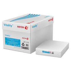 Xerox Recycled Copy Paper, 8 1/2 x 11 (Letter), 92 Bright, 20 lb, 500 Sheets Per Ream, Case of 10 Reams
