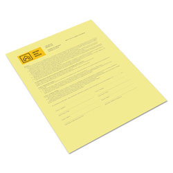 "Xerox Canary Coated Copy Paper, 8 1/2""x11"", One Ream"