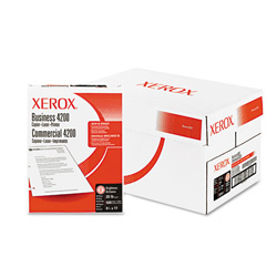 Xerox 4200 Business Bulk Multipurpose White Paper, 3 Hole, 8 1/2 x 11, 10 Reams/Carton