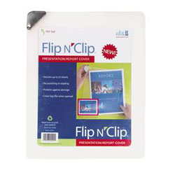 Paris Business Forms Flip N' Clip, Report Cover, White, Each