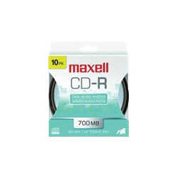 Maxell CD-R x 10 - 700 MB - storage media