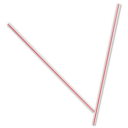 Dixie Unwrapped Plastic Striped Stir Sticks, 5.5""