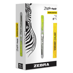 Zebra Pen Highlighter, w/ Rubber Grip, Chisel Tip, Yellow