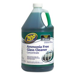 Zep Ammonia-Free Glass Cleaner, Agradable Scent, 1 gal Bottle
