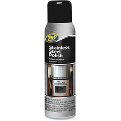 Zep Stainless Steel Polish, 14oz., Chrome/Black