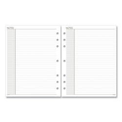 At-A-Glance Lined Notes Pages, 8.5 x 5.5, White, 30/Pack